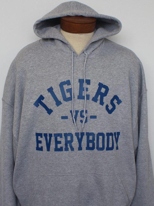 grey Tigers Vs Everybody Hoodie
