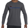 Memphis-Logo-Long-Sleeve-Grey-T-Shirt