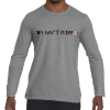wedontbluffballnet long sleeve tee - sport grey