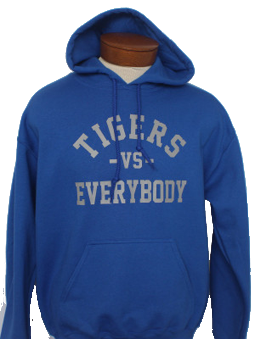Tigers-Vs-Everybody-Hoodie blue
