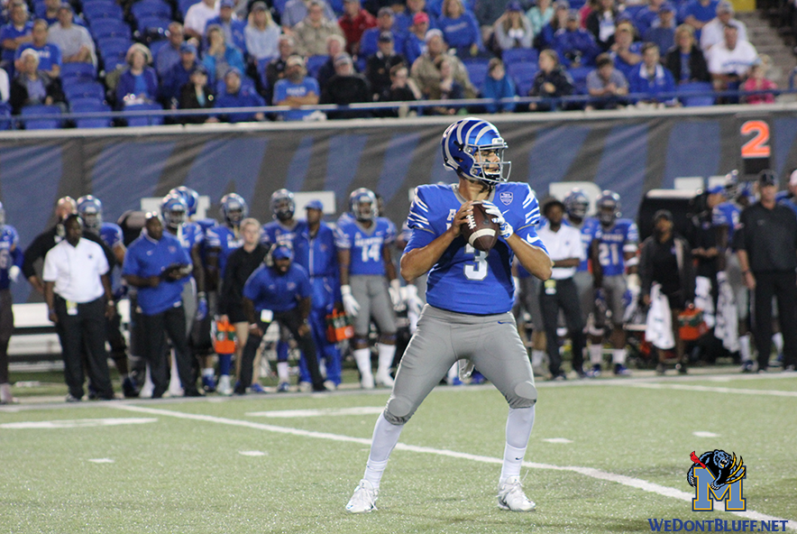 Memphis Tigers new QB, Brady White in action.