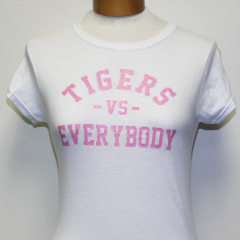 Tigers Vs Everybody Woman's T-shirt ( White/Pink)