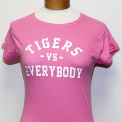 Tigers Vs Everybody Woman's T-shirt (Pink/White)