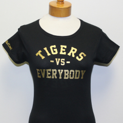 Tigers Vs Everybody Woman's T-shirt (Black/Gold)