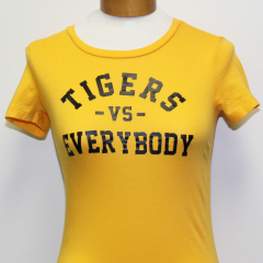 Tigers Vs Everybody Woman's T-shirt (Gold/Black)