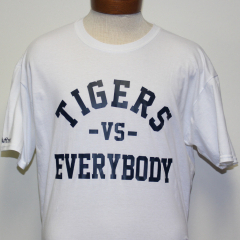 Tigers Vs Everybody T-shirt (White/Navy)