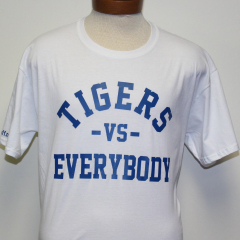Tigers Vs Everybody T-shirt (White/Blue)