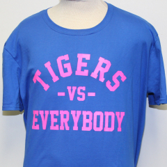 Tigers Vs Everybody T-shirt (Blue/Pink)