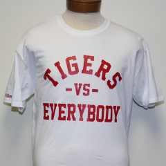 Tigers Vs Everybody T-shirt (White/Red)