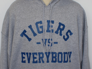 Tigers Vs Everybody Hoodie – Grey
